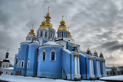 Cathedral i,Kiev. HDR Royalty Free Stock Photos