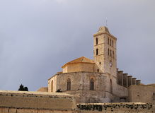 Cathedral in Ibiza Town Royalty Free Stock Image
