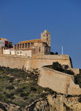 Cathedral in Ibiza Town Stock Photography