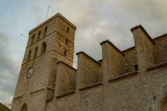 Cathedral of Ibiza. royalty free stock photo