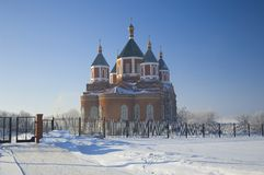 Cathedral of the Icon of the Mother of God Iversky Royalty Free Stock Photos