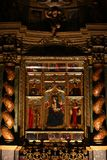 Icons in catholic church. Cathedral if San Giovanni Battista, Turin, Italy Royalty Free Stock Image
