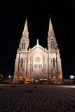 Cathedral illuminated at night Royalty Free Stock Image