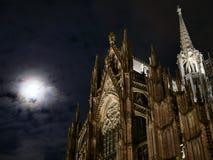 Cathedral illuminated at night Stock Image