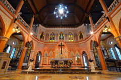 Cathedral of The Immaculate Conception. The beautiful cathedral in Chantaburi Stock Image