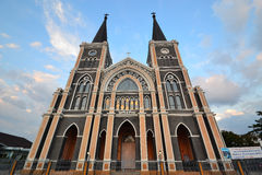 Cathedral of The Immaculate Conception. The beautiful cathedral in Chantaburi Royalty Free Stock Photo