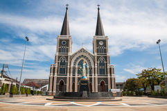 The Cathedral of the Immaculate Conception at Chantaburi in Thai Stock Photos