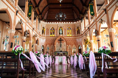 The Cathedral of the Immaculate Conception at Chantaburi in Thai Royalty Free Stock Photography
