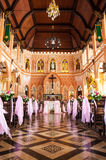 The Cathedral of the Immaculate Conception at Chantaburi in Thai Royalty Free Stock Images