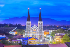 The Cathedral of Immaculate Conception Chanthaburi Stock Photo