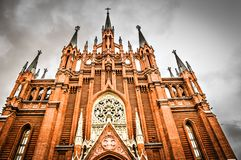 Cathedral of Immaculate Conception,  Moscow. Royalty Free Stock Image