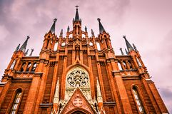 Cathedral of Immaculate Conception,  Moscow. Stock Photography