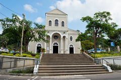 Cathedral of the Immaculate Conception in Victoria, Mahe island, Seychelles. Roman catholic Cathedral of the Immaculate Conception in Victoria, Mahe island stock photos