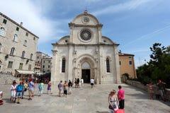 Cathedral In Sibenik, Croatia Stock Photo