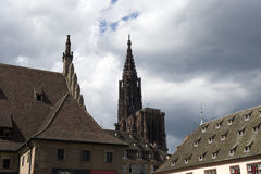 Cathedral In Strasbourg Stock Photos