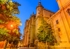 Cathedral of the Incarnation. Main facade, Spain Stock Photo
