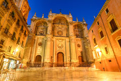 Cathedral of the Incarnation. Main facade, Spain Stock Photography