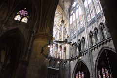 Cathedral indoors Royalty Free Stock Images