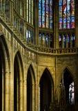 cathedral inside praha Arkivfoton