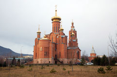 Cathedral of the Intercession in town Mineralnye vody Stock Images