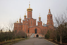 Cathedral of the Intercession in town Mineralnye vody Royalty Free Stock Photo