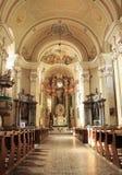 Cathedral interior. Franciscan monastery interior from Romania Stock Photos