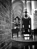 Cathedral Interior. Artistic look in black and white Stock Images