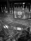 Cathedral Interior. Artistic look in black and white Stock Image