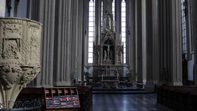 Cathedral interior bright daylight stock footage