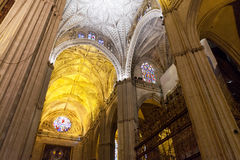 Cathedral interior. Royalty Free Stock Images