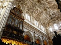 Cathedral interior in Cordoba, Spain Royalty Free Stock Photography