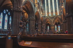 Cathedral interior in Glasgow, Scotland Stock Image