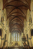 Cathedral interior. Inside of Jakarta cathedral, view of the roof Stock Photography