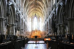Cathedral interior, Lichfield, England. Stock Image
