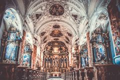 Cathedral Interior View Royalty Free Stock Photo