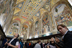 Cathedral interiors of Siena, Italy Stock Photo