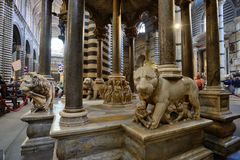 Cathedral interiors of Siena, Italy Stock Photography