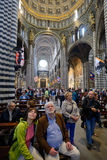 Cathedral interiors of Siena, Italy Royalty Free Stock Photos