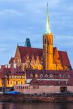 Cathedral Island in the evening Wroclaw, Poland Stock Images
