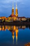 Cathedral Island in the evening Wroclaw, Poland Royalty Free Stock Photos