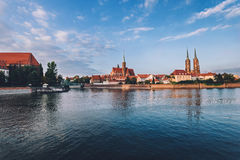 Cathedral island by Golden Hour Royalty Free Stock Images
