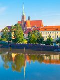 Cathedral Island, Ostrow Tumski, at Odra River. Old Town of Wroclaw, Poland. Cathedral Island, Ostrow Tumski, at Odra River. Old Town of Wroclaw, Poland Royalty Free Stock Images