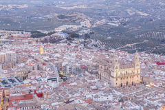 Cathedral in Jaen Royalty Free Stock Photos