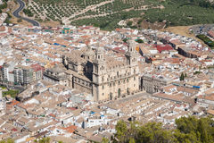 Cathedral of Jaen city Royalty Free Stock Photography
