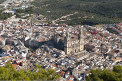 Cathedral at Jaen City Spain Royalty Free Stock Photo
