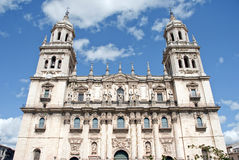 Cathedral of Jaen, Spain. Sight of a Spanish cathedral from below, in the south of the country Stock Photography
