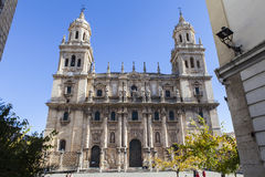 Cathedral of Jaen, Spain. The beautiful decorated Cathedral of Jaen, Spain royalty free stock photo
