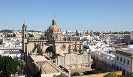 Cathedral in Jerez de la Frontera, Spain Royalty Free Stock Images