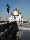 Cathedral of Jesus Christ Saviour, Moscow Stock Images