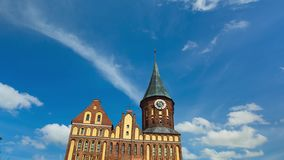 Cathedral of Kaliningrad. Against the backdrop of blue sky stock video footage
